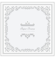 Square paper frame vector image