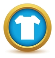 Gold tee shirt icon vector image