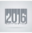 label to the new 2016 as barcode vector image