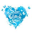 sun beach fun heart 380 vector image vector image