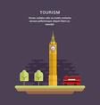 Tourism Concept Flat Style Big Ben Elizabeth vector image