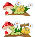 Snail cartoon vector image
