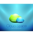 Cloud space concept background vector image vector image