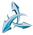 Arrows 3d web cursors vector image