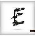 Calligraphic watercolor letter E vector image