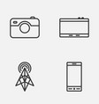 device icons set collection of wireless router vector image