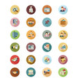 Financial Flat Colored Icons 3 vector image