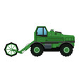 harvesting agriculture vehicle concept - vector image