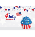 Independence Day 4 th July celebration vector image