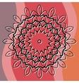 Mandala art based cover invitation or postcard vector image