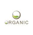 Organic leaf logo vector image