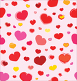 Pink Seamless Pattern With Hearts CS5 vector image