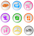 shopping icons small vector image