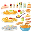Canape snacks appetizer set vector image
