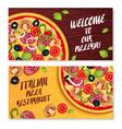 Italian Pizza Horizontal Banners vector image