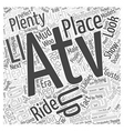an atv trail date Word Cloud Concept vector image