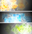 Hi-tech glossy banners vector image vector image
