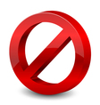 3d forbidden sign vector image