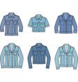 jean jacket set vector image