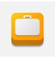 square button portfolio vector image