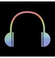 Watercolor headphones icon vector image