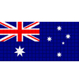 The mosaic flag of Australia vector image