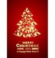 Abstract ribbon christmas tree vector image