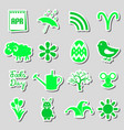 april month theme set of simple stickers eps10 vector image
