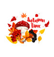 autumn or fall nature season poster design vector image