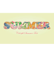 Decorative Floral Text Summer vector image
