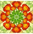 decorative ornate poppy flowers circle vector image