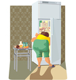 diet overweight woman vector image