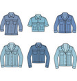 jean jacket set vector image