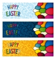 Set Happy Easter flyer vector image
