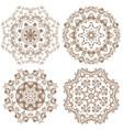 set of decorative circle design vector image