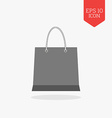 Shopping bag icon Flat design gray color symbol vector image