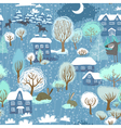 Winter seamless vector image