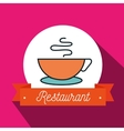 cup coffee restaurant icon vector image