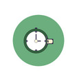 in flat design of time is vector image