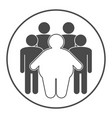 group of fat and skinny people obesity concept vector image