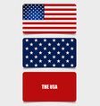 American Flag Flags concept design vector image vector image