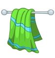 Cartoon home kitchen towel vector image