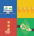 Financial concept flat design vector image