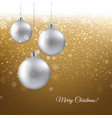 golden christmas banner vector image
