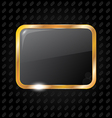 Golden rectangle frame isolated on aluminum vector image