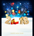 happy new year background with 2018 magic box and vector image