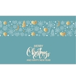 Merry Christmas and Happy New Year luxury gold vector image