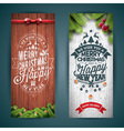 Merry Christmas banner with typography design vector image