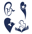 mother love logo and symbols vector image