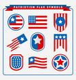 patriotism flag symbols vector image